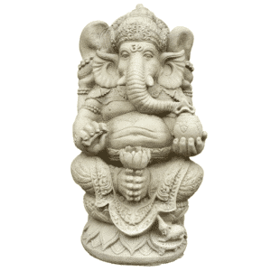 Ganesha Lotus Elefant 50Kg | 61x35x35cm| sand