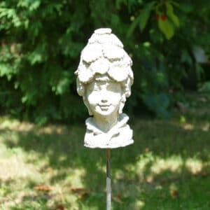Beetstecker Engel Gesicht 1Kg | 17x8x8cm | sand