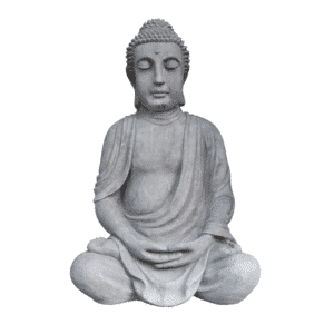 Buddha sitzend groß 92KG | 83x53x40cm | grau