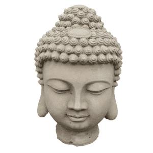 Buddha Kopf 11Kg | 30x20x22cm | sand