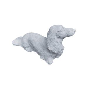 Hund Dackel 17KG | 30x19x65cm | grau