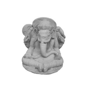Ganesha Elefant Tempelwächter 28Kg | 42x32x29cm | grau