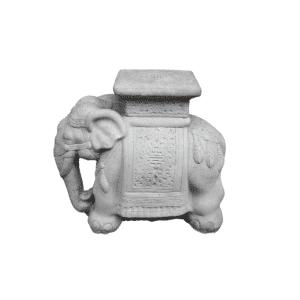 Elefant mit Ornamenten 46Kg | 44x23x50cm | grau