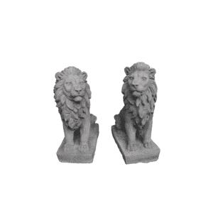 2 kleine Löwen je 9Kg | 35x14x25cm | grau