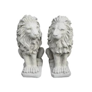 2 große Löwen je 34Kg | 52x26x40cm | sand